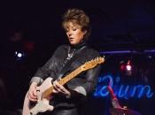 Katrina Leskanich and her pink guitar