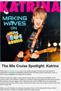 The 80s Cruise 2020 - Miami Katrina